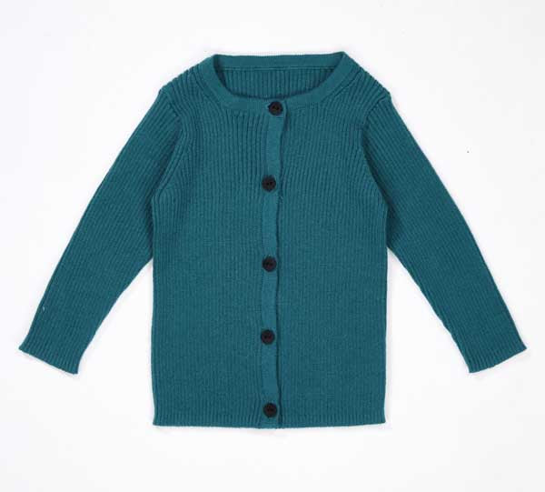 Baby Teal Cotton Cardigan