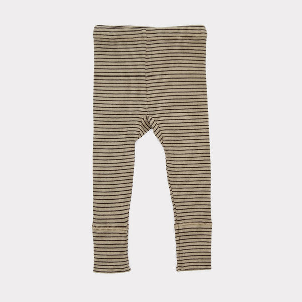 Baby Pewter Cotton Rib Jersey Trousers