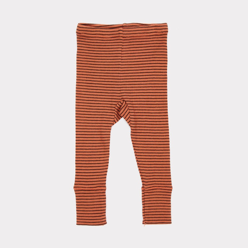 Baby Rust Cotton Rib Jersey Trousers