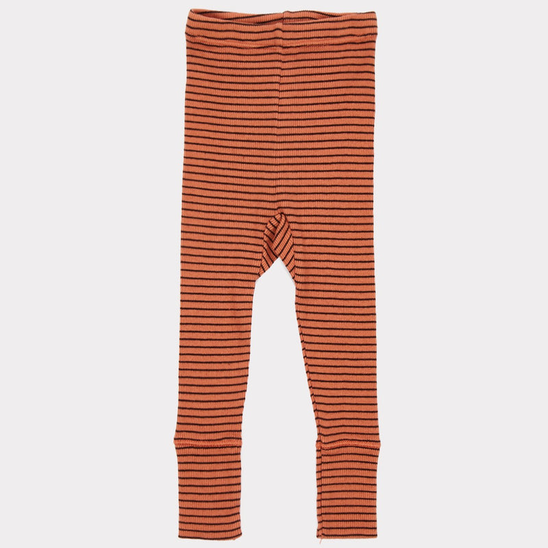 Girls Rust Cotton Rib Jersey Trousers