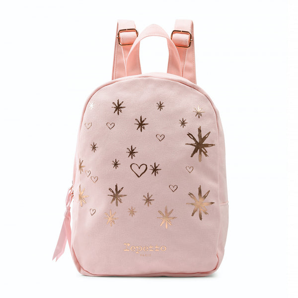 Girls Pale Pink Cotton Backpack