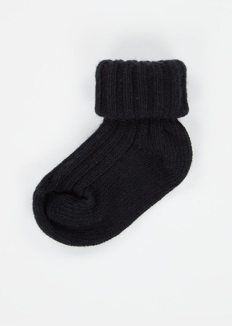 Baby Boys & Girls Navy Rib Ankle Socks