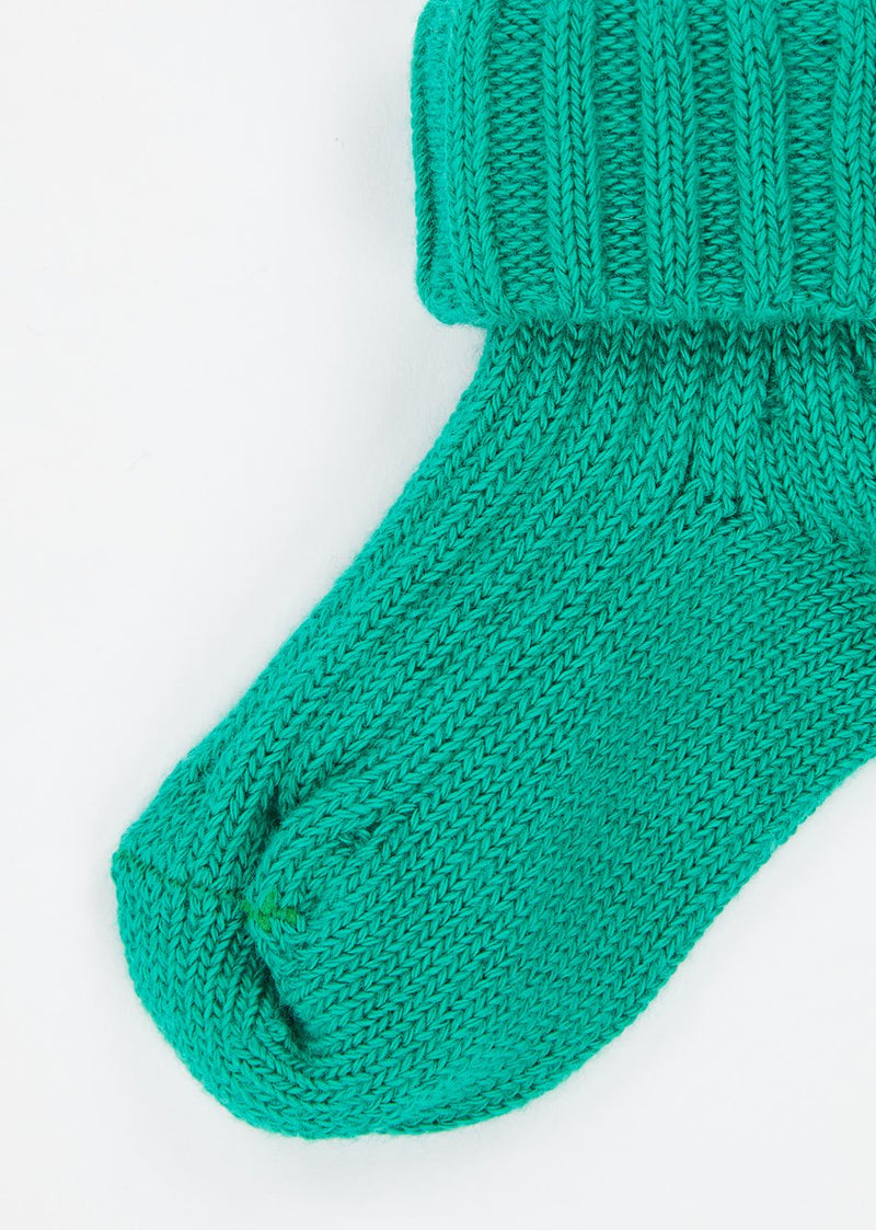 Baby Boys & Girls Teal Rib Ankle Socks