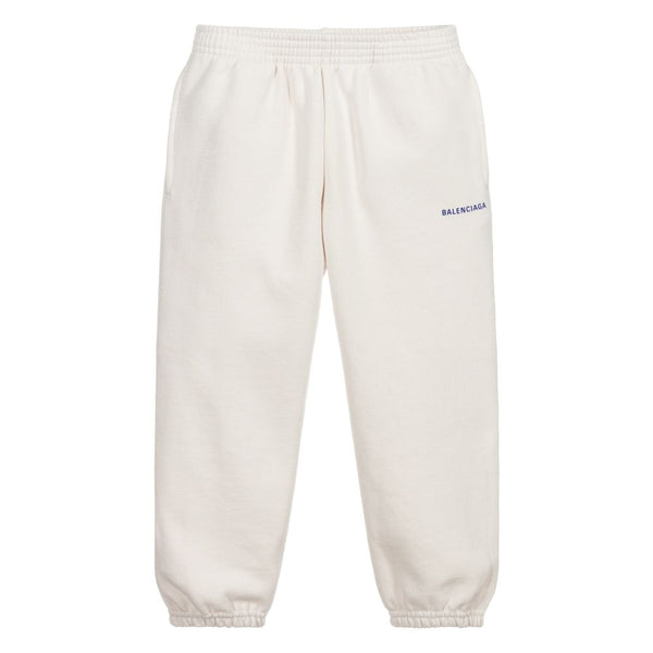 Boys & Girls Chalky White Logo Jogging Pants
