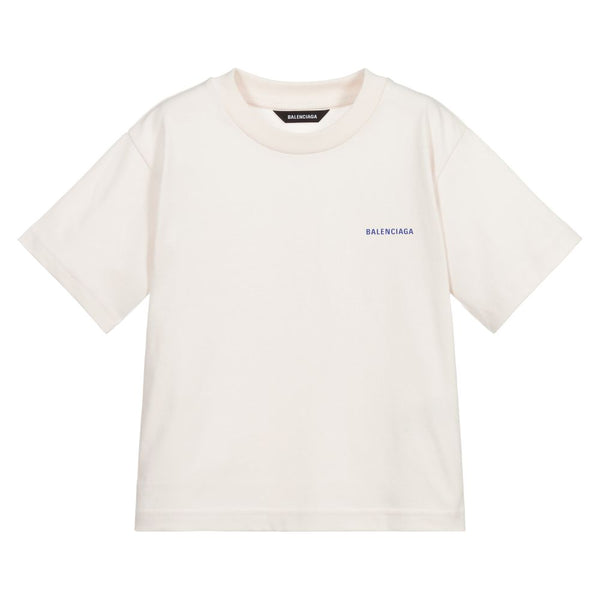 Boys & Girls Chalky White Logo T-Shirt