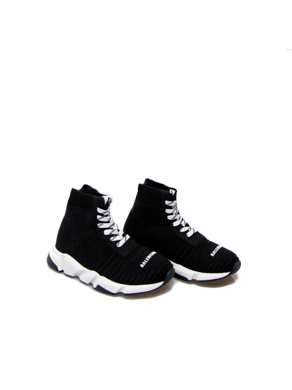 Boys & Girls Black Logo Sport Shoes