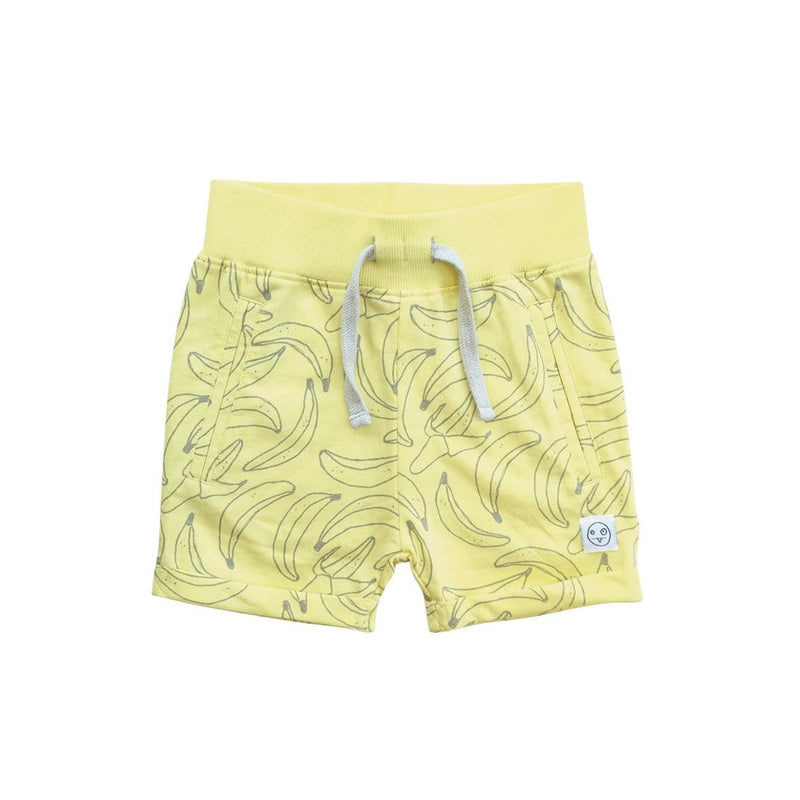 Boys&Girls Yellow Banana Printed Cotton Short - CÉMAROSE | Children's Fashion Store