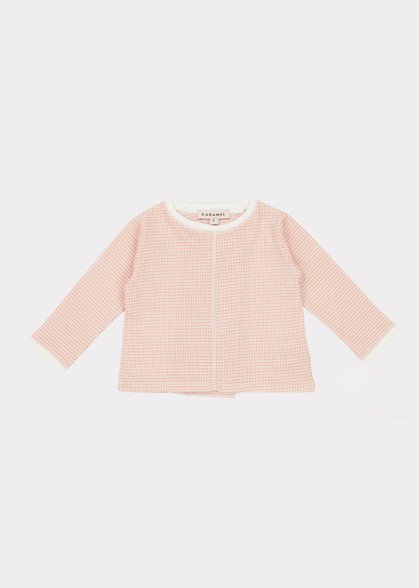 Baby Girls Pink Check Cotton Set