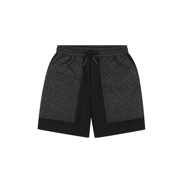 Boys & Girls Black Logo Cotton Shorts