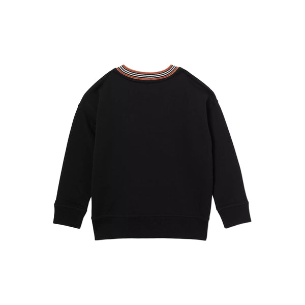 Boys Black Printing Cotton Sweatshirt