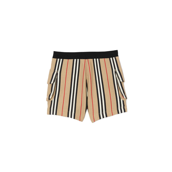 Boys & Girls Beige Stripe Cotton Shorts