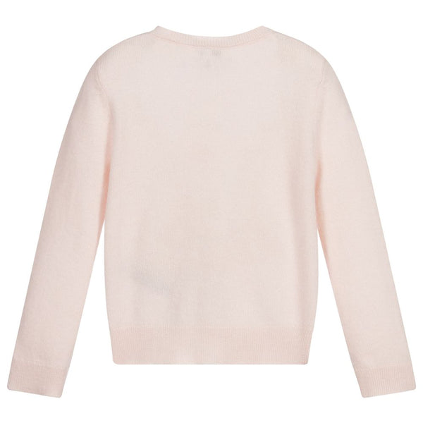 Girls Pale Pink Cashmere Cardigan