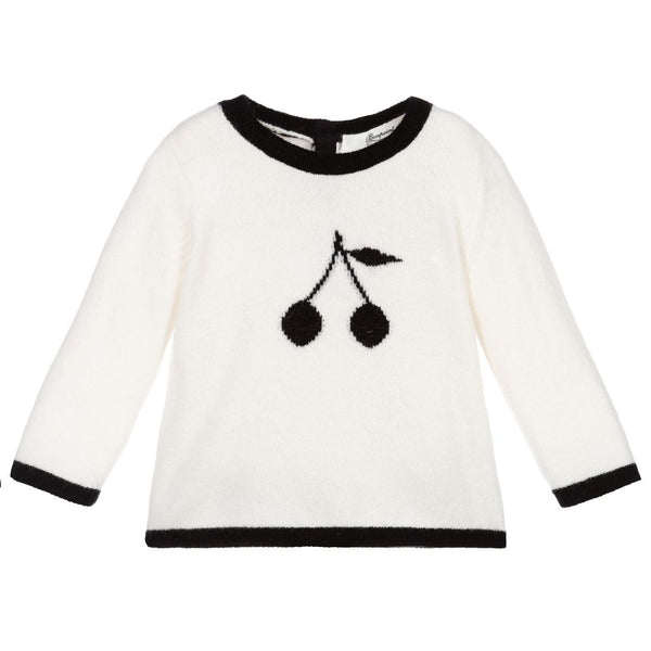 Baby Girls Off White Cashmere Sweater