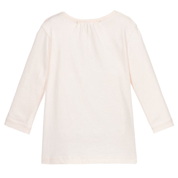 Baby Girls Pale Pink Cotton T-Shirt
