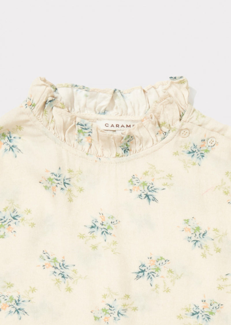Girls Ivory Woven Blouse
