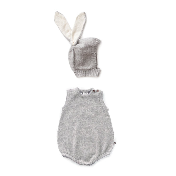 Baby Boys & Girls Grey Bunny Romper Set