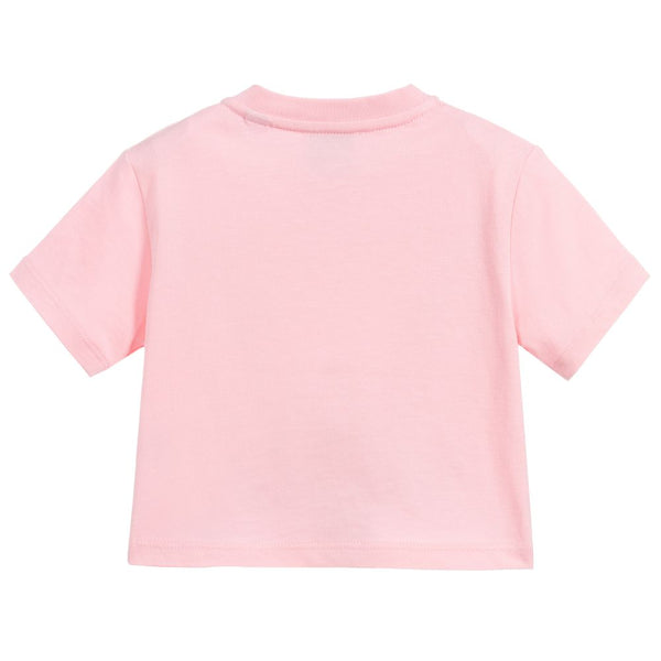 Baby Girls Candy Pink Cotton T-Shirt