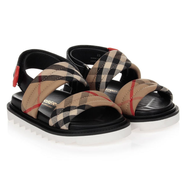 Boys & Girls Archive Beige Check Shoes