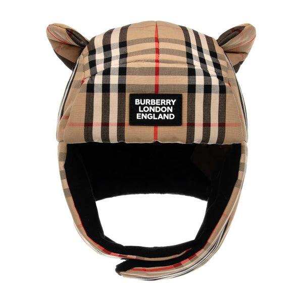 Boys & Girls Archive Beige Check Hat
