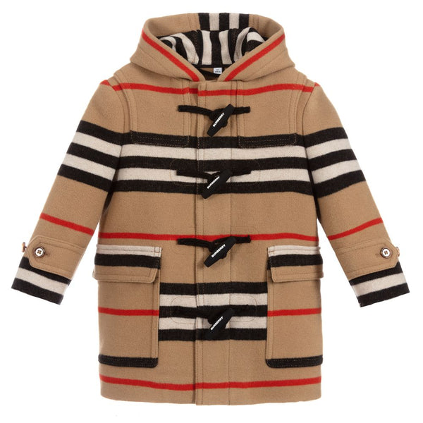 Boys Archive Beige Virgin Wool Coat