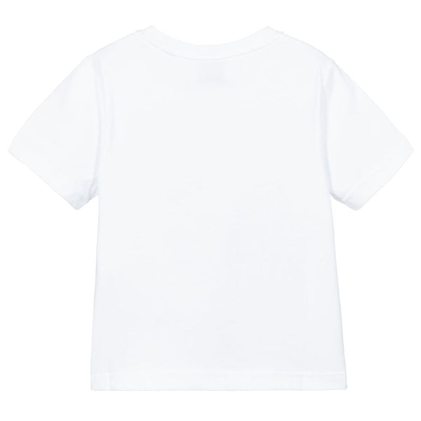 Boys & Girls White Logo T-Shirt
