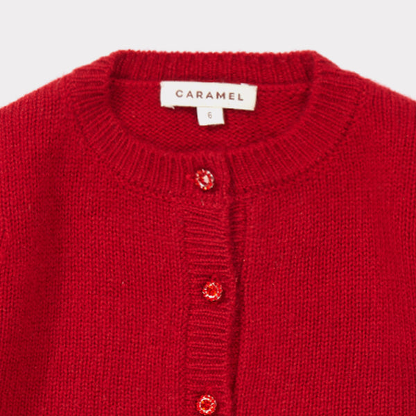 Baby Girls Redcurrant Cashmere Cardigan