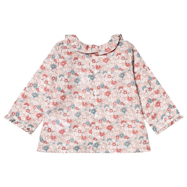 Baby Girls Faded Pink Blouse