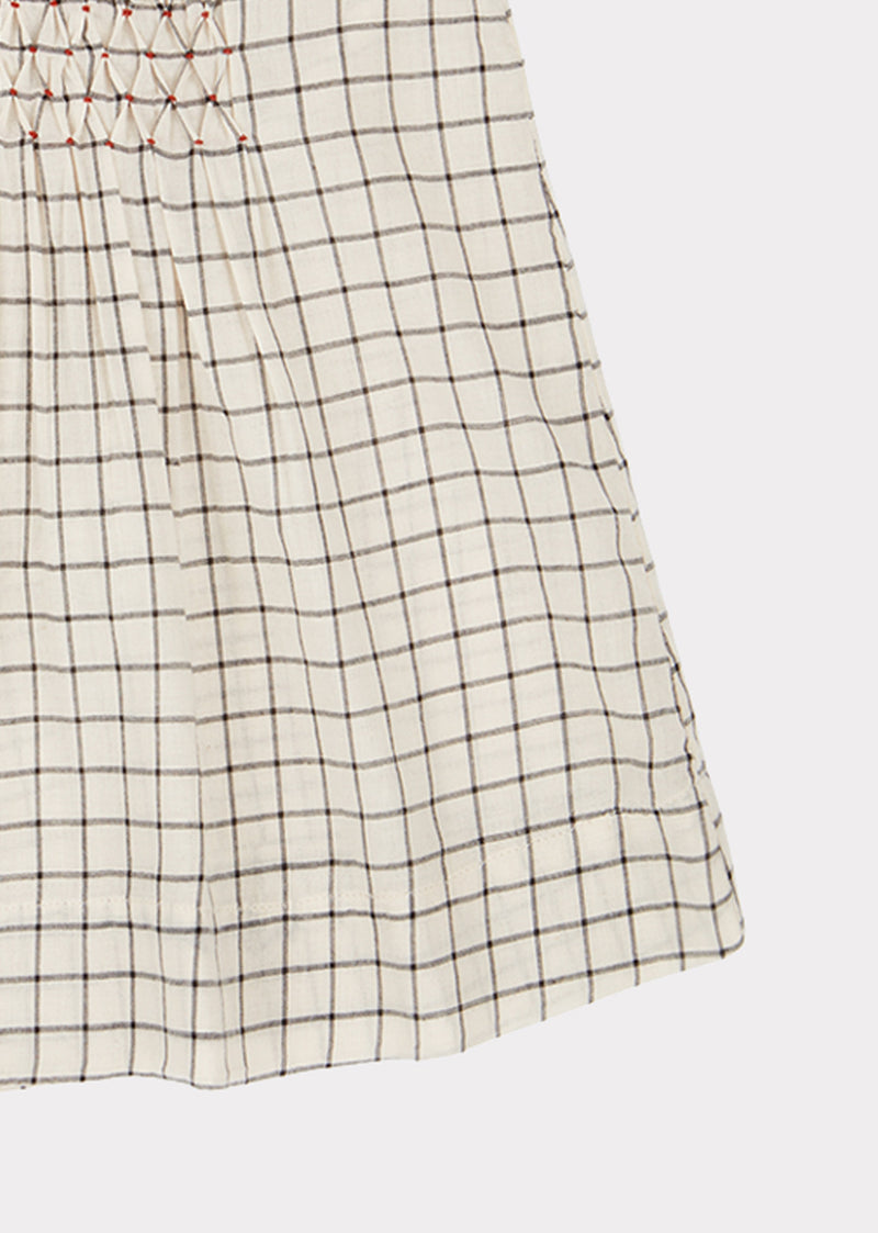 Baby Girls Black & White Check Dress