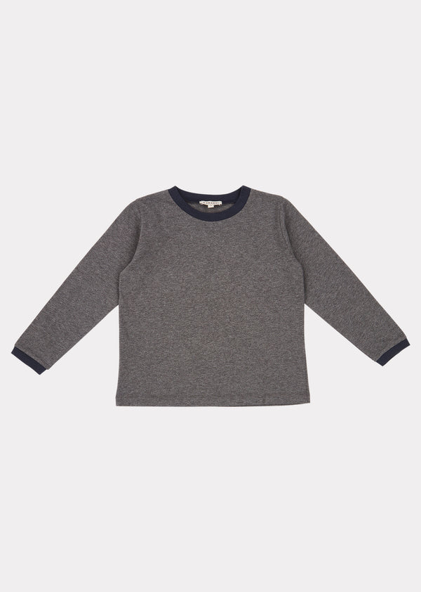 Boys & Girls Grey Melange Crake T-Shirt