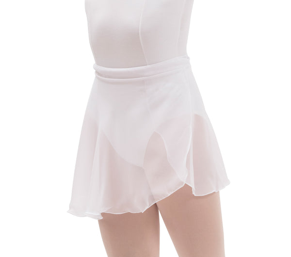 Girls White Chiffon Skirt