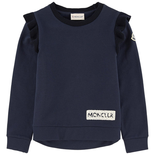 Girls Navy Blue Cotton Sweatshirt