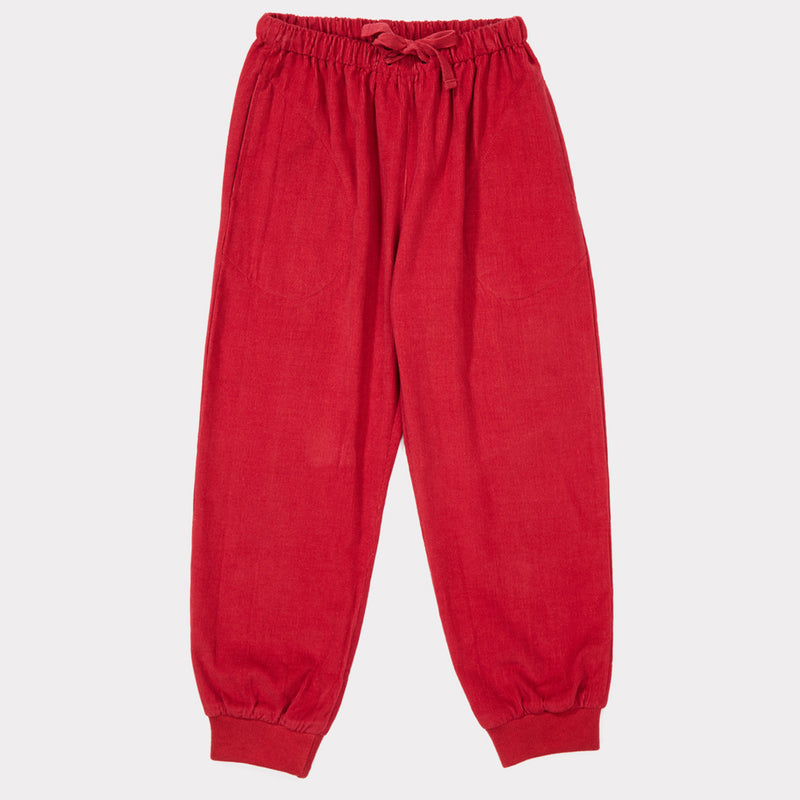 Girls & Boys Tomato Cotton Trousers