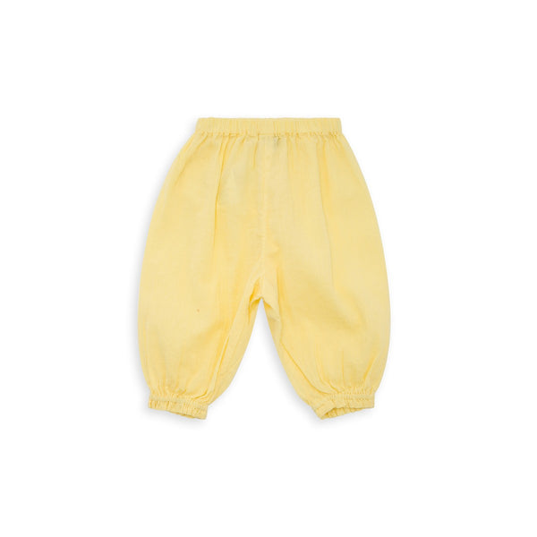 Baby Girls Jaune Shake Cotton Trousers
