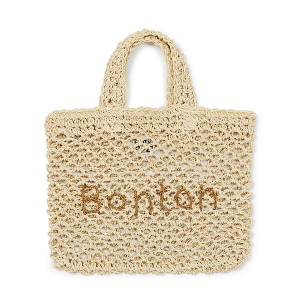 Girls Beige Paper Bag