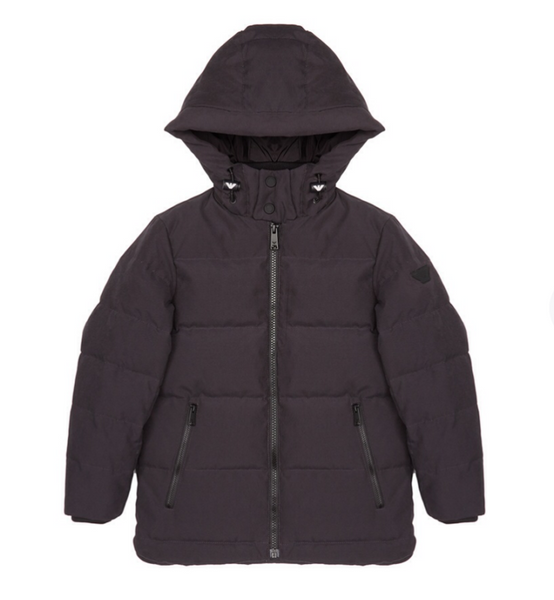Boys Dark Grey Padded Down Jacket