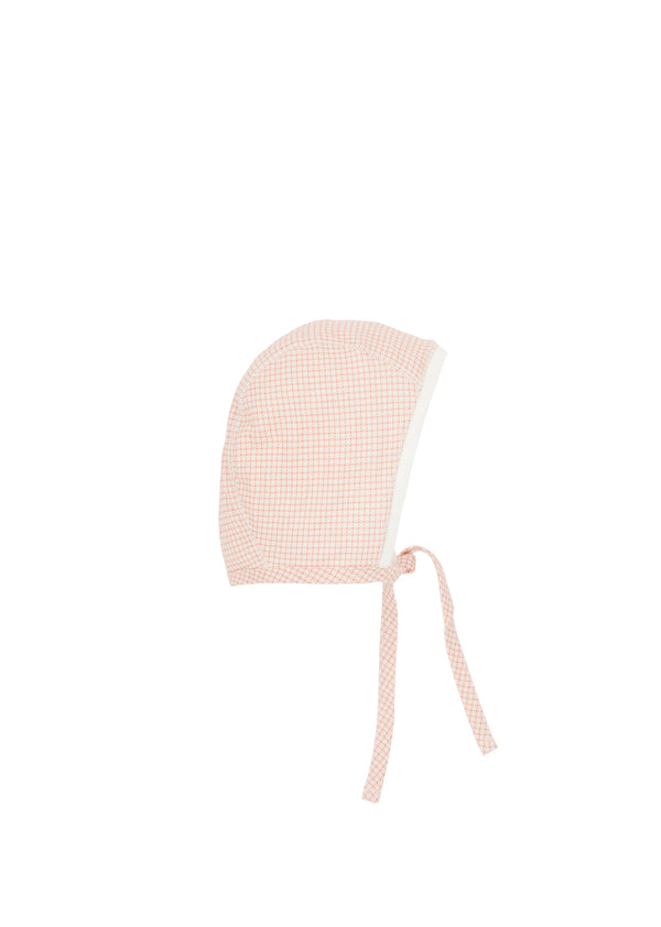 Baby Girls Pink Check Cotton Hat