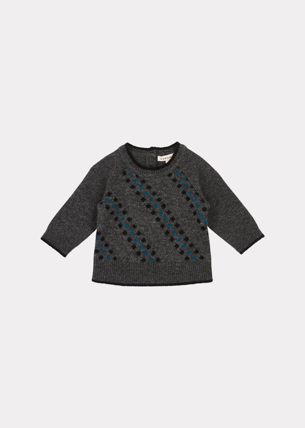 Baby Boys & Girls Charcoal Egret Jumper