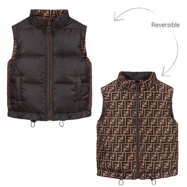 Boys & Girls Black Padded Vest