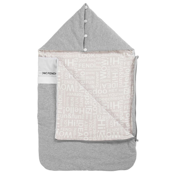 Baby Grey Cotton Sleeping Bag