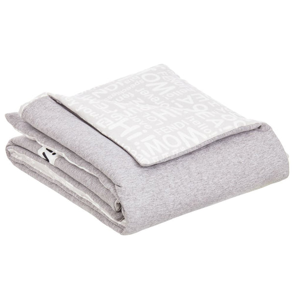 Baby Grey Cotton Square Scarf(83cm)