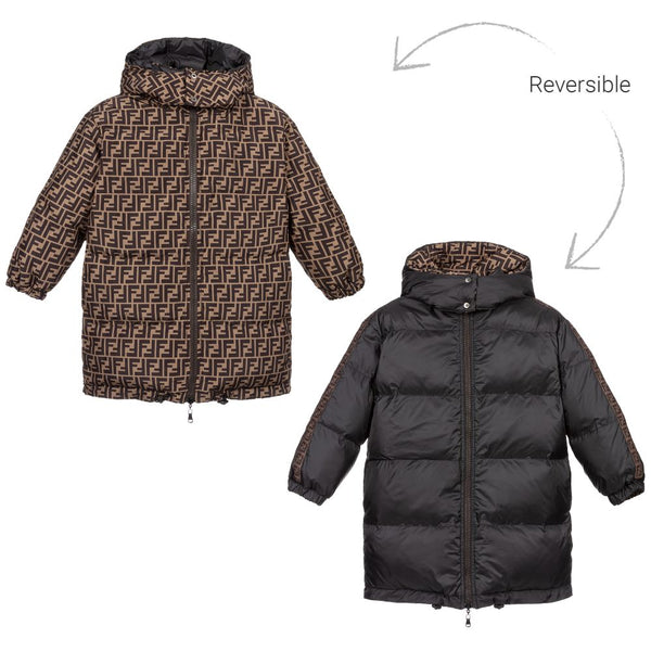Boys & Girls Black FF Padded Coat
