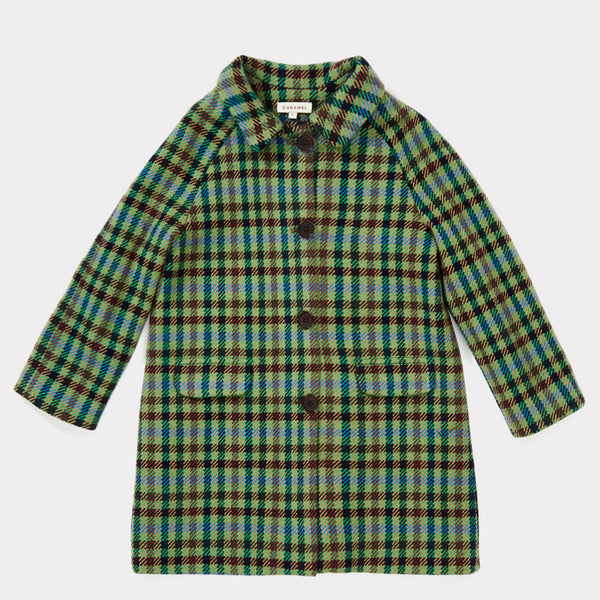 Boys & Girls Peppermint Check Wool Coat