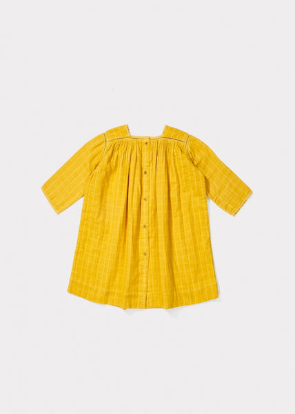 Baby Girls Yellow Cotton Dress
