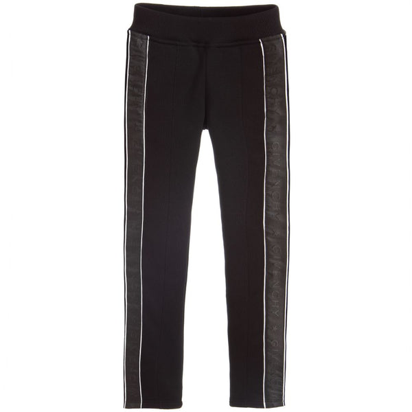 Girls Black Logo Trousers