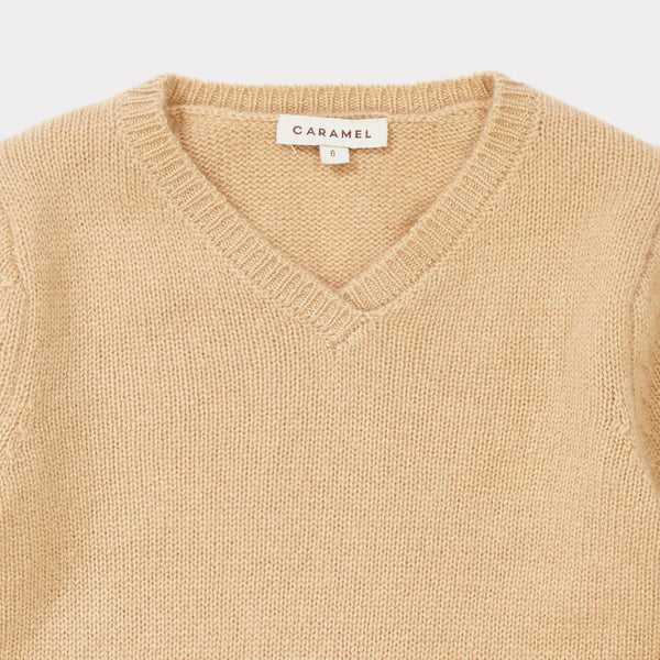 Girls Camel Cashmere Sweater