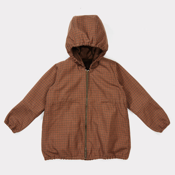 Boys Orange Houndstooth Jacket