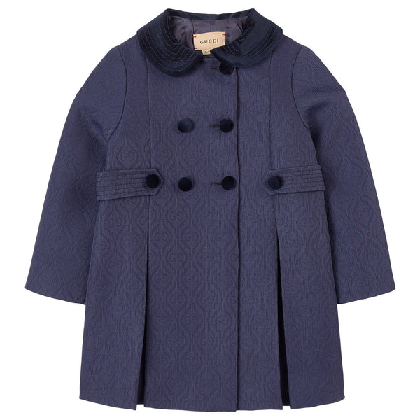 Baby Girls Dark Blue Coat