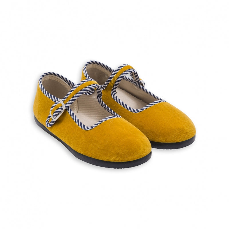 Baby Girls Yellow Cotton Shoes