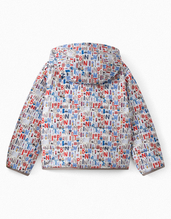 Boys & Girls Blue Moyen Puffer Jacket