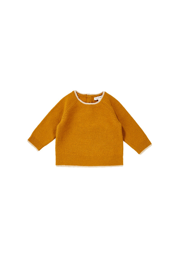 Baby Girls Yellow Wool Sweater